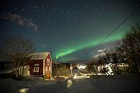 Isole Lofoten nella foto aurora boreale geografico Svolv&aelig;r 13/02/2016 foto Matteo Biatta<br /> <br /> Lofoten Islands in the picture aurora borealis geographic Svolv&aelig;r 13/02/2016 photo by Matteo Biatta