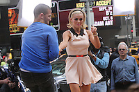 May 23, 2012  Katherine Jenkins and Mark Ballas of Dancing with the Stars at Good Morning America at Times Square in New York City. Credit: Roger Wong/MediaPunch Inc.