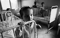 Young Orphan in a governement organized home, Cluj Napoce, Romania 1990