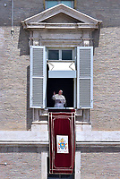 Pope Francis  St.Peter's square during his Angelus prayer  at the Vatican.June 29, 2017