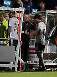 Nigel Adkins manager of Sheffield Utd congratulates score Billy Sharp of Sheffield Utd - English League One - Scunthorpe Utd vs Sheffield Utd - Glandford Park Stadium - Scunthorpe - England - 19th December 2015 - Pic Simon Bellis/Sportimage