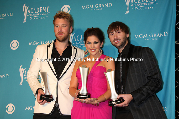 Lady Antebellum.arrives at the Academy of Country Music Awards 2010.MGM Garden Arena.Las Vegas, NV.April 18, 2010.©2010 Kathy Hutchins / Hutchins Photo....