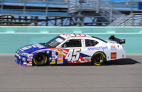 Nov. 15, 2008; Homestead, FL, USA; NASCAR Sprint Cup Series driver Chad McCumbee during practice for the Ford 400 at Homestead Miami Speedway. Mandatory Credit: Mark J. Rebilas-
