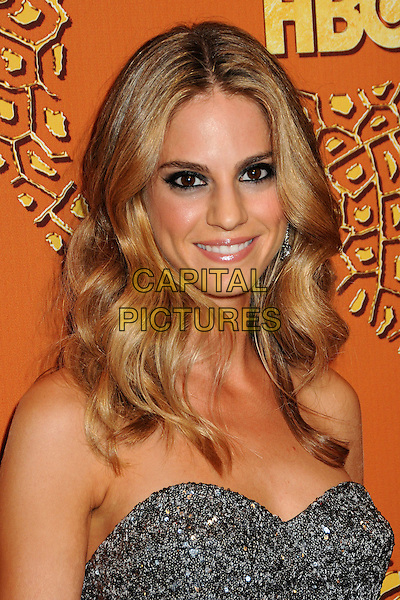 KELLY KRUGER .HBO's 2010 67th Golden Globe Awards Post Party held at the Beverly Hilton Hotel, Beverly Hills, California, USA..January 17th, 2009.globes headshot portrait silver strapless sparkly embellished jewel encrusted beads beaded.CAP/ADM/BP.©Byron Purvis/Admedia/Capital Pictures