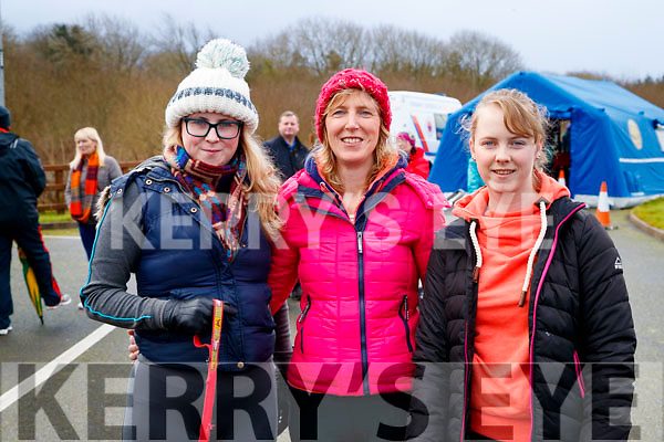 Jane, Cathy and Emma Carmody, Tralee, pictured at the Operation Transformation Walk at Tralee Bay Wetlands on Saturday morning last.