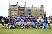 The Bath Rugby squad and coaches pose for a team photo. Bath Rugby Media Day on August 24, 2016 at Farleigh House in Bath, England. Photo by: Rogan Thomson / JMP / Onside Images