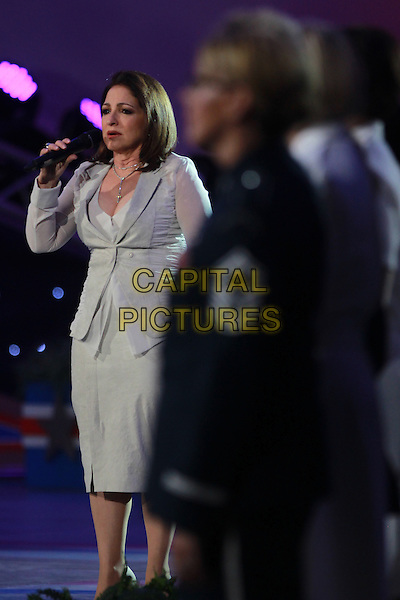 WASHINGTON, D.C. - MAY 23: Gloria Estefan pictured at the National Memorial Day Concert rehearsal the West Lawn of The U.S. Capital in Washington, D.C. on May 23, 2015.  <br /> CAP/MPI/mpi34<br /> &copy;mpi34/MediaPunch/Capital Pictures
