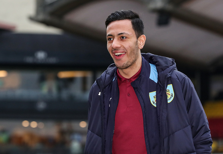 Burnley's Dwight McNeil pictured before the match<br /> <br /> Photographer Andrew Kearns/CameraSport<br /> <br /> The Premier League - Watford v Burnley - Saturday 19 January 2019 - Vicarage Road - Watford<br /> <br /> World Copyright &copy; 2019 CameraSport. All rights reserved. 43 Linden Ave. Countesthorpe. Leicester. England. LE8 5PG - Tel: +44 (0) 116 277 4147 - admin@camerasport.com - www.camerasport.com