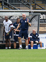 Colchester United Manager John McGreal during the Sky Bet League 2 match between Wycombe Wanderers and Colchester United at Adams Park, High Wycombe, England on 27 August 2016. Photo by Liam McAvoy.