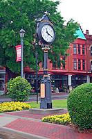 Vintage clock in town square Washington Georgia