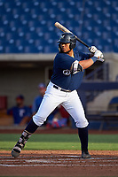 AZL Brewers Blue Kevin Hardin (63) at bat during an Arizona League game against the AZL Rangers on July 11, 2019 at American Family Fields of Phoenix in Phoenix, Arizona. The AZL Rangers defeated the AZL Brewers Blue 5-2. (Zachary Lucy/Four Seam Images)