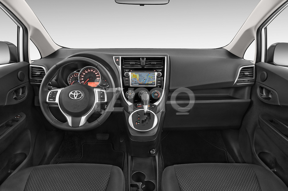 Stock photo of straight dashboard view of a 2015 Toyota Verso-S skyview 5 Door Hatchback 2WD Dashboard