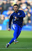 17th March 2019, Goodison Park, Liverpool, England; EPL Premier League Football, Everton versus Chelsea; Eden Hazard of Chelsea warms up before the match