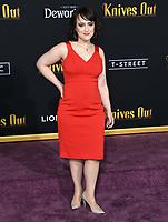 "14 November 2019 - Westwood, California - Mara Wilson. ""Knives Out"" Los Angeles Premiere held at Regency Village Theater. Photo Credit: Birdie Thompson/AdMedia"