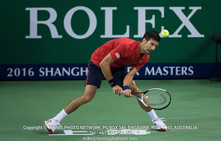 NOVAK DJOKOVIC (SRB)<br /> <br /> TENNIS - ROLEX SHANGHAI MASTERS - QI ZHONG TENNIS CENTER - MINHANG DISTRICT - SHANGHAI - CHINA - ATP 1000 - 2016  <br /> <br /> <br /> <br /> &copy; TENNIS PHOTO NETWORK