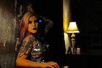 Gregory Holmgren Photography, Moulin Rouge Boutique, Fashion Shoot, December 17, 2013, Featuring Model Melissa Saint-Metal Echmier, Hair and Make-up by Jessica Rose Sarkozi, Fashions provided by Micki Stanoi, Location Courtesy of Jeff Feswick and Micki Stanoi.