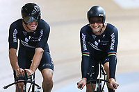 Nick Kergozou (L) and Regan Gough during training, Avantidrome, Home of Cycling, Cambridge, New Zealand, Friday, March 17, 2017. Mandatory Credit: © Dianne Manson/CyclingNZ  **NO ARCHIVING**