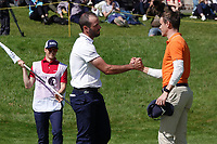 Robin Roussel (FRA) & Daan Huizing (NED) in action during the final round of the Hauts de France-Pas de Calais Golf Open, Aa Saint-Omer GC, Saint- Omer, France. 16/06/2019<br /> Picture: Golffile | Phil Inglis<br /> <br /> <br /> All photo usage must carry mandatory copyright credit (© Golffile | Phil Inglis)