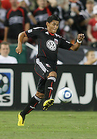 Andy Najar #14 of D.C. United during an MLS match against the Columbus Crew at RFK Stadium on September 4 2010, in Washington DC. Columbus won 1-0.