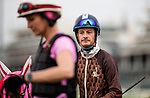 LOUISVILLE, KENTUCKY - MAY 01: Master Fencer with Julien Leparoux up gate schools for the Kentucky Derby at Churchill Downs in Louisville, Kentucky on May 01, 2019. Evers/Eclipse Sportswire/CSM