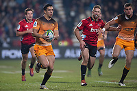 Jaguares' Matias Moroni in action during the 2019 Super Rugby final between the Crusaders and Jaguares at Orangetheory Stadium in Christchurch, New Zealand on Saturday, 6 July 2019. Photo: Joe Johnson / lintottphoto.co.nz