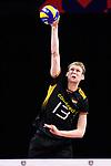 13.09.2019, Paleis 12, BrŸssel / Bruessel<br />Volleyball, Europameisterschaft, Deutschland (GER) vs. Serbien (SRB)<br /><br />Aufschlag / Service Simon Hirsch (#13 GER)<br /><br />  Foto © nordphoto / Kurth