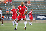 15 July 2007: Chicago's C.J. Brown.  The United Soccer League Division 1 Carolina Railhawks defeated Major League Soccer's Chicago Fire 1-0 in a Third Round Lamar Hunt U.S. Open Cup game at SAS Stadium in Cary, North Carolina.