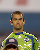 Seattle Sounders FC defender Patrick Ianni (4). The New England Revolution defeated the Seattle Sounders FC, 3-1, at Gillette Stadium on September 4, 2010.