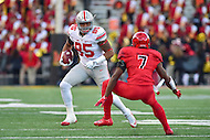 College Park, MD - NOV 12, 2016: Ohio State Buckeyes tight end Marcus Baugh (85) in action against Maryland Terrapins defensive back JC Jackson (7) during game between Maryland and Ohio State at Capital One Field at Maryland Stadium in College Park, MD. (Photo by Phil Peters/Media Images International)