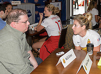 Houston, TX - Thursday Oct. 06, 2016: McCall Zerboni during media day prior to the National Women's Soccer League (NWSL) Championship match between the Washington Spirit and the Western New York Flash at BBVA Compass Stadium.