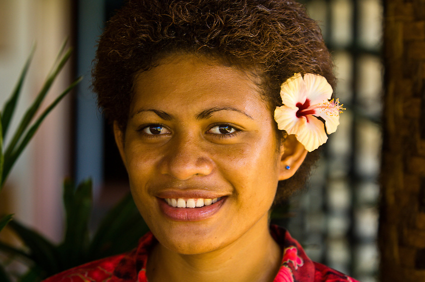 Fijian woman, Nukubati Island Resort, Fiji Islands