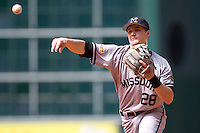 Missouri TIger Conner Mach against the TCU Horned Frogs on Friday March 5th, 2100 at the Astros College Classic in Houston's Minute Maid Park.  (Photo by Andrew Woolley / Four Seam Images)