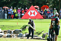 SINGAPORE - MARCH 03: Ariya Jutanugarn of Thailand plays a shot after a drop onto the 4th green during the final round of the HSBC Women's World Championship 2019 at Sentosa Golf Club - Tanjong Course, Singapore on March 03, 2019.<br /> .<br /> .<br /> .<br /> (Photo by: Naratip Golf Srisupab/SEALs Sports Images)<br /> .<br /> Any image use must include a mandatory credit line adjacent to the content which should read: Naratip Golf Srisupab/SEALs Sports Images