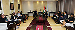 Palestinian Prime Minister Mohammad Ishtayeh meets with Swedish Minister of Cooperation in the West Bank city of Ramallah, on October 16, 2019. Photo by Prime Minister Office