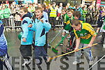 Kerry footballers cleaning up the dirty Dubs at the Killarney St Patrick's parade on Saturday