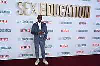 "Ncuti Gatwa<br /> arriving for the ""Sex Education"" season 2 launch at Genesis Cinema Mile End Road, London.<br /> <br /> ©Ash Knotek  D3547 08/01/2020"