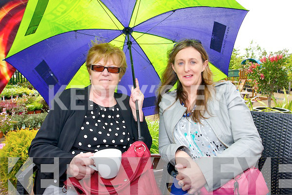 Myra McAuliffe, Knocknagoshel and Angela O'Sullivan, Tralee enjoying the Ballyseedy Garden Centre Family fun Day in aid of the Home to Rome Cycle on Sunday