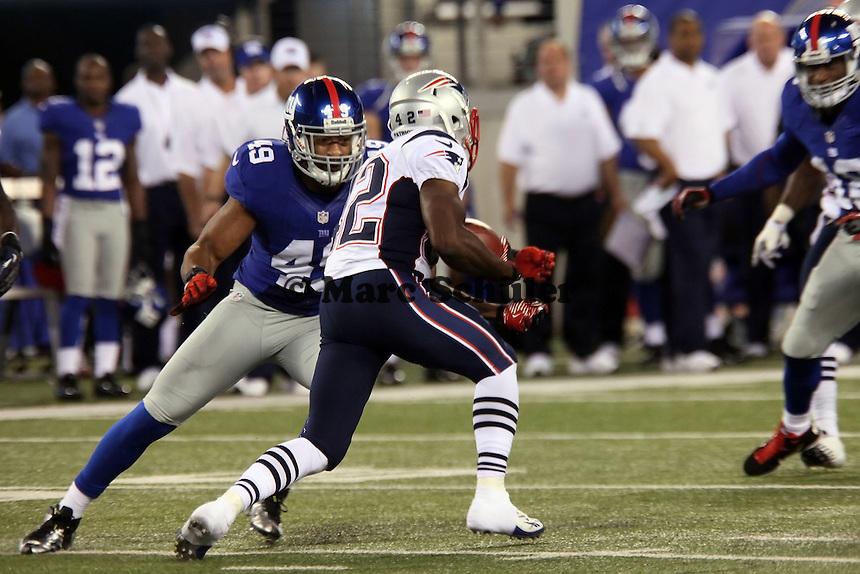 RB Jeff Demps (Patriots) gegen LB Spencer Paysinger (Giants)