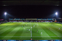 General view of play during the The Checkatrade Trophy match between Wycombe Wanderers and West Ham United U21 at Adams Park, High Wycombe, England on 4 October 2016. Photo by Andy Rowland.