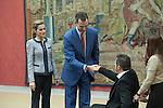 King Felipe VI of Spain and Queen Letizia of Spain receive Social Solidarity entities representatives at Pardo Palace in Madrid, Spain. June 24, 2013. (ALTERPHOTOS/Victor Blanco)