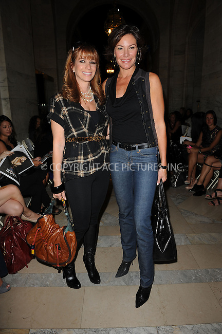 WWW.ACEPIXS.COM . . . . . ....September 14 2009, New York City....(R-L) Countess LuAnn de Lesseps and Jill Zarin at the Jill Stuart Spring 2010 fashion show at Mercedes-Benz Fashion Week at Astor Hall on September 14, 2009 in New York City.....Please byline: KRISTIN CALLAHAN - ACEPIXS.COM.. . . . . . ..Ace Pictures, Inc:  ..tel: (212) 243 8787 or (646) 769 0430..e-mail: info@acepixs.com..web: http://www.acepixs.com