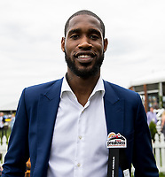 BALTIMORE, MD - MAY 20: Will Barton of the Denver Nuggets poses for a photo in The Under Armour Tent  on Preakness Stakes Day at Pimlico Race Course on May 20, 2017 in Baltimore, Maryland.(Photo by Jesse Caris/Eclipse Sportswire/Getty Images)