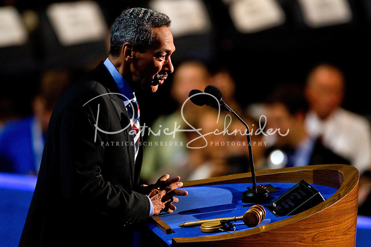 U.S. Rep. Mel L. Watt (D-NC) speaks on stage during the final day of the Democratic National Convention at Time Warner Cable Arena on September 6, 2012 in Charlotte, North Carolina.