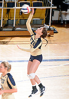 Florida International University women's volleyball player Rachel Fernandez (5) plays against Florida A&M University.  FIU won the match 3-0 on September 11, 2011 at Miami, Florida. .