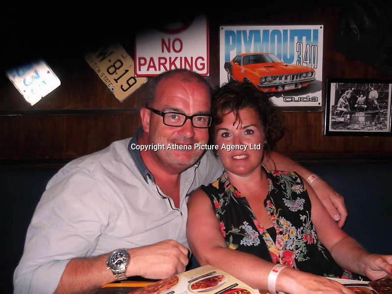 Pictured: Paul and Rhiannon Brown<br /> Re:  Rhiannon and Paul Brown, aged 46 and 50, couple were fleeing from Beefeaters restaurants without paying
