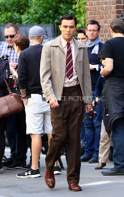 WWW.ACEPIXS.COM<br /> <br /> May 11 2016, New York City<br /> <br /> Actor Nicholas Hoult on the set of the new movie 'Rebel in The Rye' on May 11 2016 in New York City<br /> <br /> By Line: Zelig Shaul/ACE Pictures<br /> <br /> <br /> ACE Pictures, Inc.<br /> tel: 646 769 0430<br /> Email: info@acepixs.com<br /> www.acepixs.com