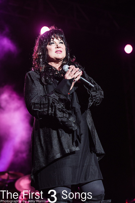 Ann Wilson of Heart performs at the 2nd Annual BottleRock Napa Festival at Napa Valley Expo in Napa, California.