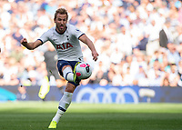 Harry Kane of Tottenham Hotspur shoots at goal during the Premier League match between Tottenham Hotspur and Crystal Palace at Wembley Stadium, London, England on 14 September 2019. Photo by Vince  Mignott / PRiME Media Images.