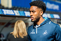 Sunday April 02 2017 <br /> Pictured: Leroy Fer of Swansea City arrives at the Liberty Stadium <br /> Re: Premier League match between Swansea City and Middlesbrough at The Liberty Stadium, Swansea, Wales, UK. SUnday 02 April 2017