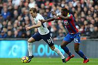 Harry Kane of Tottenham Hotspur and Timothy Fosu-Mensah of Crystal Palace during Tottenham Hotspur vs Crystal Palace, Premier League Football at Wembley Stadium on 5th November 2017
